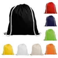 Pack of Ten Cotton Drawstring Rucksacks